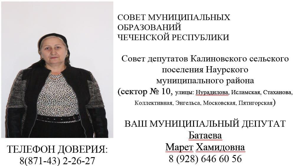 Батаева М.Х.