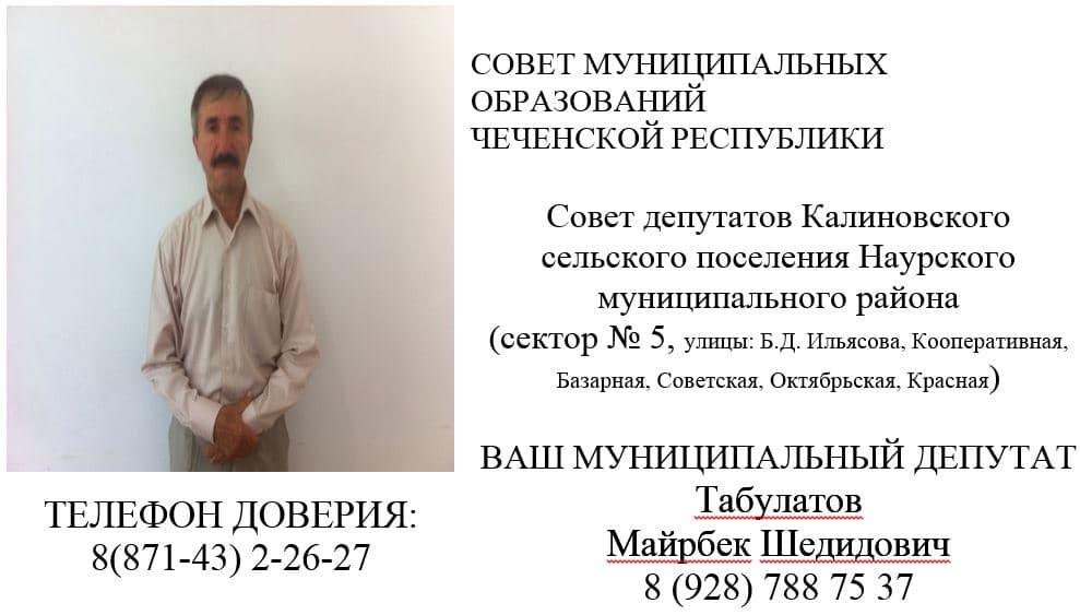 Табулатов М.Ш